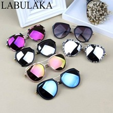 LABULAKA 2017 New Kids Mercury Reflective Sunglasses Child Baby Glasses Fashion Anti-UV Boys Girls Sun glasses Shades Goggles(China)