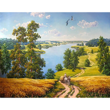 Landscape DIY Painting By Numbers Wall Art DIY Digital Canvas Oil Painting Home Decoration For Living Room GX9578 40*50cm SZ1-F(China)