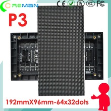Discount product freeshipping led display screen module pixel 3mm  / Indoor video wall led module p3 96*192mm 32*64 p4 p5 p6 p10