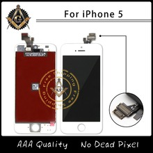 10PCS/LOT High Quality No Dead Pixel Brand New Competitive Price For iPhone 5 LCD Free Shipping DHL