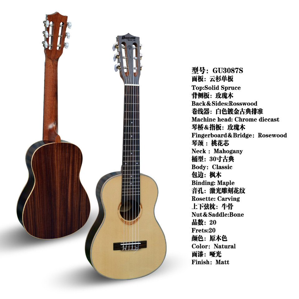 30inch professional UKULELE solid wood spruce with rosewood<br><br>Aliexpress