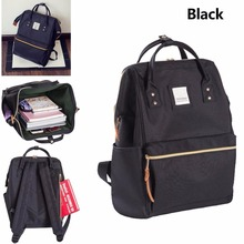 Classic School Backpack Canvas Tote Daypack High qualtiy  Travel Medium Bags Black