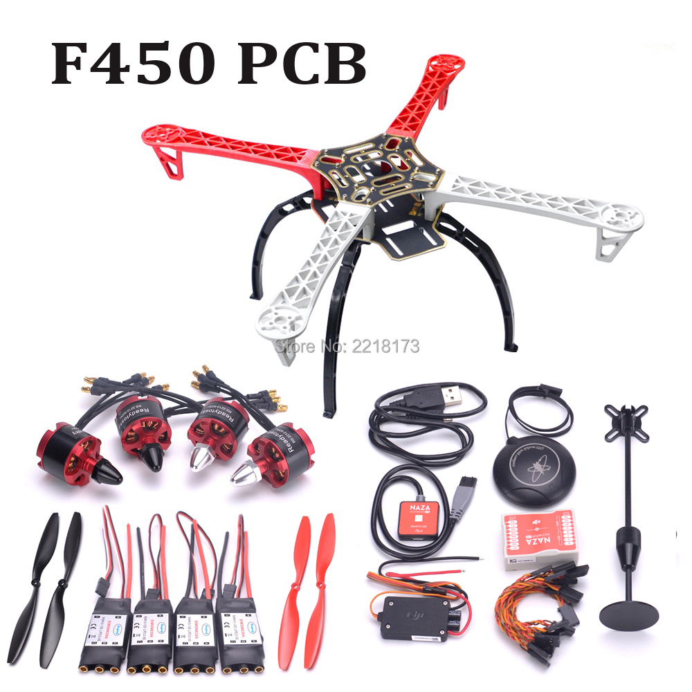 F450 450mm Quadcopter frame kit with landing gear & Naza M Lite Flight Controller Board with M8N GPS 2212 920kv 30A simonk ESC(China)