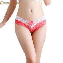 Buy Chamsgend Intimates Women Sexy Hot Underwear Double Color Lace Bowknot V Briefs Thongs Panty 80110