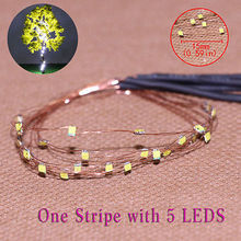 evemodel  DD85W1505 5 Strips 5-LED  Pre-soldered micro Copper Wired WHITE SMD LED 0805 model train 1/35 railway modeling