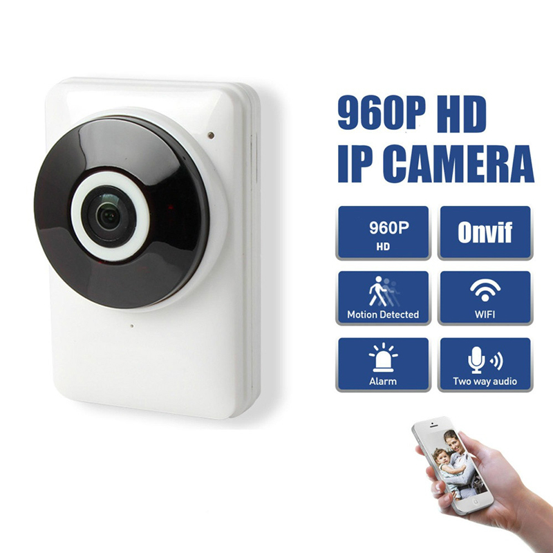 HD 960P Panoramic  Camera Wireless Wi-Fi Network IP Camera Security Fisheye Night Vision Monitor Webcam Home Baby Monitor<br>