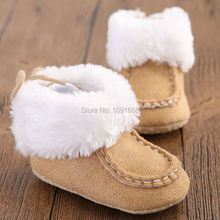 First Walkers Newborn Baby Boy/Girl Winter Boots Infant Toddler Soft Sole Crib Bebe Prewalker Sneakers Baby Moccasins 5 Colors(China)