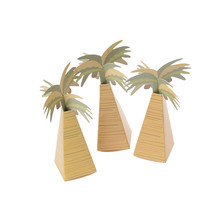 12pcs/lot Paper Rustic Wedding Favor Box Coconut Palm Tree Baby Shower Favor Box Wedding Accessories(China)
