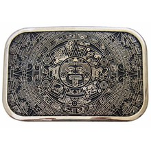 T-DISOM Mens' Belt Buckle Brand Western Aztec Calender Maya Belt Buckle For Jeans Suit For PU Belts Drop shipping(China)