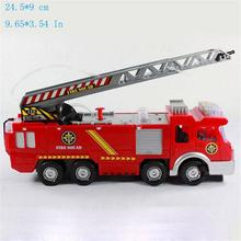 2017 new children's toy fire truck car music with children boy toy fire engine education water spray toy