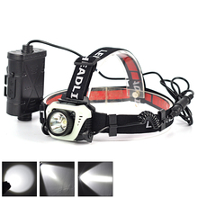1000LM 1 Mode Mini IR Sensor Headlamp XPE R5 LED Headlight Head Torch Lamp 18650 hoofdlamp Lantern Power Bank For Camping
