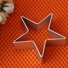 Star Shaped Aluminium Mold Sugarcraft Biscuit Cookie Cake Pastry Baking Cutter Mould Tool pastry tools baking tools for cakes(China)