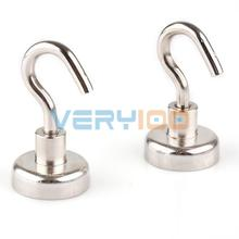 2pcs N52 Magnet Super Heavy Magnetic Hook Holder Neodymium Rare Earth Dia. 25mm(China)