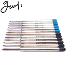Guoyi Only one brand D99 metal pen refills Ballpoint pen Office school stationery School gifts DIY Orders for sale 10pc pen(China)