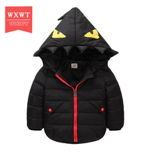 WXWT Girls Boys Winter Jackets Kids Hooded Coats Thick Children's Warm Parkas Baby Brand clothes High quality Outerwear & Coats