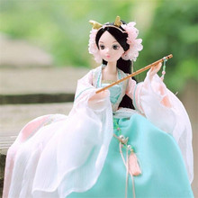 29cm PVC Princess Dolls, 11inch Dragon Lady Fairy Beautiful Chinese Style Toy, Lovely Figure Dolls, Beautiful Girl Toys