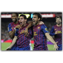 Spanish Super Cup Barcelona Football Players Poster Canvas Fabric Silk Home Decor Sports Football Poster YD024