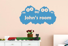 Personalised kids Name Monster Vinyl Wall Decal Stickers for Baby Room Decor