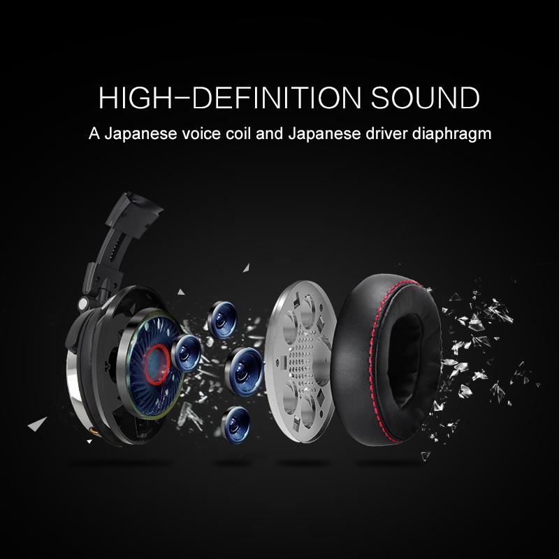Wired Headphones with Mic Professional Studio Headphones 6
