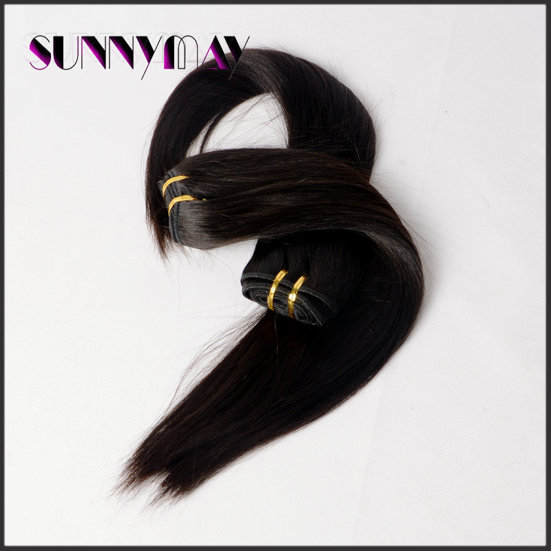Sunnymay Brazilian Virgin Straight Hair Extension Natural Color 8A Unprocessed Human Hair 100g Human Hair Bundles Extensions<br><br>Aliexpress