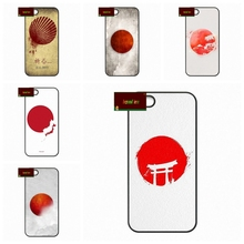 japan Japanese JP Flag Phone Cases Cover For iPhone 4 4S 5 5S 5C SE 6 6S 7 Plus 4.7 5.5   AM1061