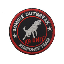 Zombie Outbreak Response Team POLICE Security K9 Unit Embroidery UNIFORM patch TACTICAL PATCH PANEL(China)