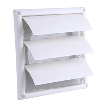 15 x 15cm Plastic Air Vent Grille Cover 3 Flaps Wall Duct 20 x 20cm Ventilation Grill With Net