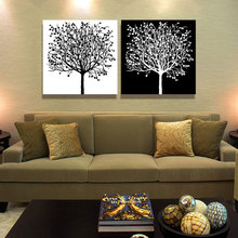 2 piece abstract canvas art simple life tree art white and black wall picture decoration home modern canvas oil art Prints
