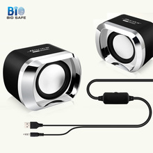 [Bio Speaker]Mini Computer Speakers for Laptop Notebook USB Bass Audio Multimedia Bass Music Player