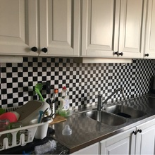 10m Mosaic Wall Stickers Self adhesive wallpaper peel & stick oil/waterproof PVC vinyl tile wall paper for kitchen bathroom wall