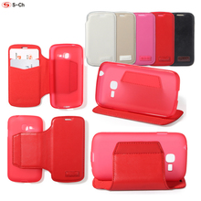 TPU Phone Case For Samsung Galaxy Star Plus / Pro GT-S7262 S7260 S7262 Flip Cover  Durable Faux Leather with Card Holders