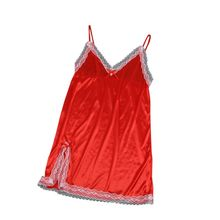 Buy Ladies Sexy Lingerie Hollow Sleeveless V-neck Night Dress Women Plus Size Nightdress Lace Sleepwear G-String