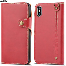 For iPhone 8 Case Luxury Flip Leather Phone Bag Cover for Apple iPhone 7 Case 6 6s 6 Plus Case for iPhone X Cover Retail Package(China)