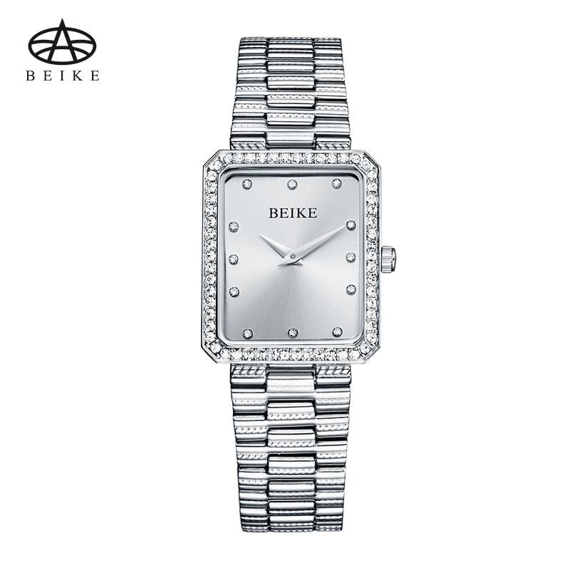 BEIKE Watch Women Automatic Waterproof Top Brand Quartz Watches Full Stainless Steel Sliver Gold Clocks Elegant Ladies Watch<br>