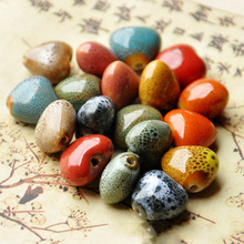 14mm Heart Ceramic Beads For Women Men Bracelet Material Bead Mixed Color Diy Loose Porcelain Charm Beaded For Jewelry Making