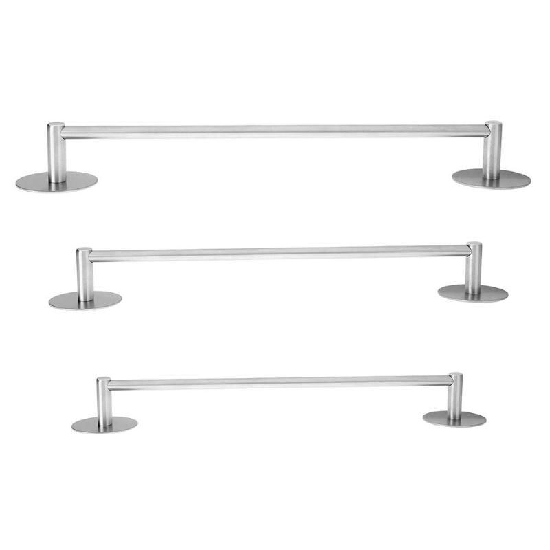 Stainless Steel Single Towel Rack Self Adhesive Bathroom Shelf Bar Rail Hanger