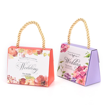 1 pcs portable wedding candy box favors box paper gift bag packaging box for guests party decoration supplies