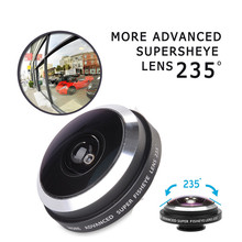 Universele Clip 235 Degrees Super Fisheye Lenses Fish Eye Lens doogee x5 max x6 elephone s7 gooweel gionee m6 Phone Lenses