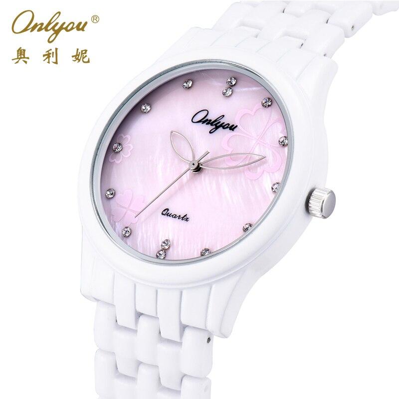 Onlyou Brand Quartz Ceramic Watches Women Men Wristwatches Fashion Casual Male Female White Pink Ladies Dress Watch Clock 8852<br><br>Aliexpress