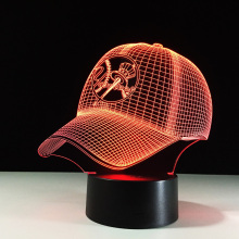 Baseball cap Table Lamp MLB New York Yankees LED Night Light 3D Optical Illusion Bulbing Child USB NightLight Luminaria de mesa