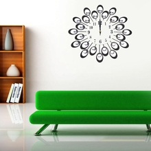 Modern Art DIY Large Wall Clock Watch 3D Design For Home Office Room Decor Silent(China)