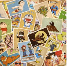 32pcs/lot Cartoon Vintage style poster Drawing post card set / greeting postcards/ gift cards/Christmas Card(China)