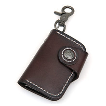 J.M.D High Quality Genuine Leather Men's Fashion Style Key Bag Card Holder Classic Design Car Key Bag Supplier 8131A/Q(China)