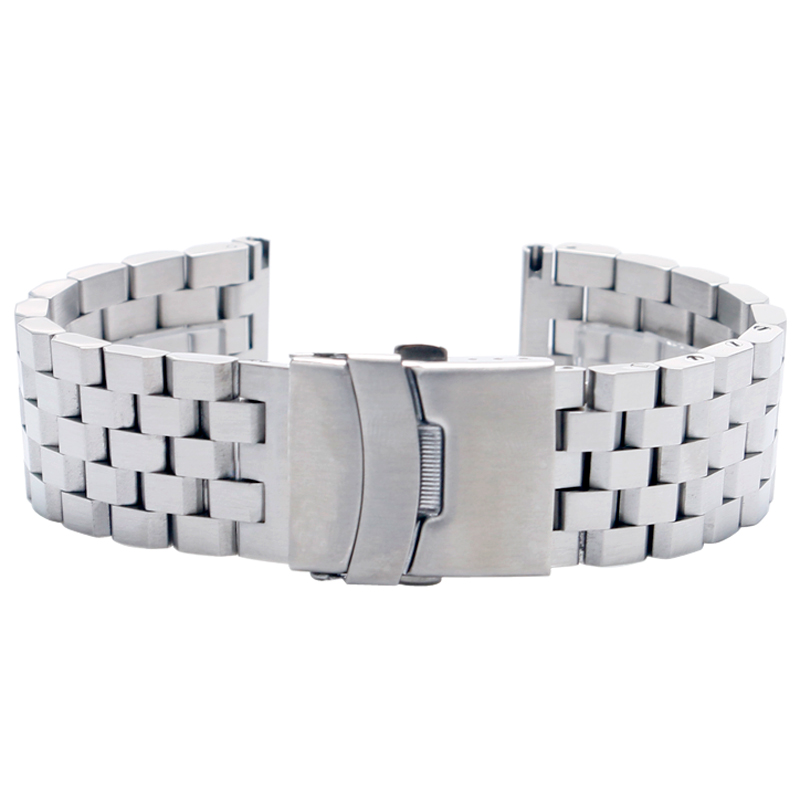 High Quality 2022mm SilverBlack Bracelet Men Women Watch Band Strap Cool Replacement Solid Link Stainless Steel Watchstrap 2017 Luxury (5)