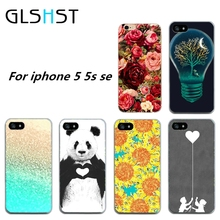 GLSHST Sunflowers and eco bulbs For Apple iPhone 5 5S SE soft TPU Thin Case Cover phone shell for iphone 5G phone bags