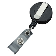 1 Pc Retractable Ski Pass Id Card Badge Holder Reel Pull Key Name Tag Card Holders Recoil Reels For School Office Company(China)