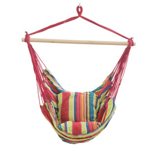 Portable Outdoor Hammocks Adults Children Indoor Cradle Chair Household Swing Dormitory Leasure Hanging Bed with Cushion as Gift