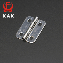 10pcs KAK 25mm x 20mm Silver Mini Door Hinges Cabinet Drawer Jewellery Box Mini Hinge With Screws For Furniture Hardware