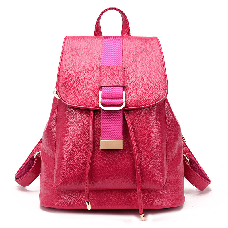 Women Drawstring Genuine Leather Backpack Brand Designer Belt Double Shoulder Bags Ladies Travel Portable Daypack Female Mochila<br>