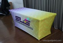 8' Stretch Fabric Trade Show Table Cover Printed Full Color Dye Sublimation, Custom Print Event Table Clothes / Free shipping(China)